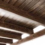 Carpintería a media de estructuras y techos de madera